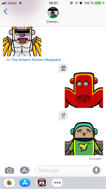 Tiny Swipers Stickers Megapack screenshot-3