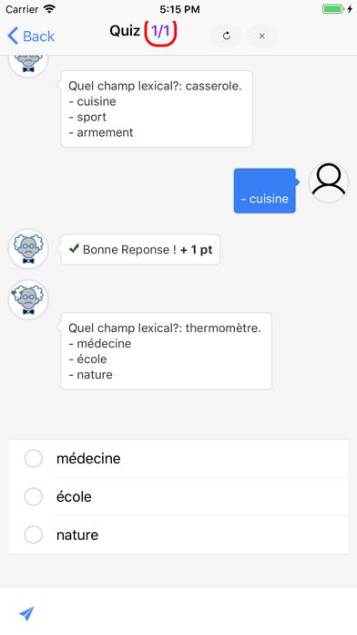 Cours de Français screenshot 2