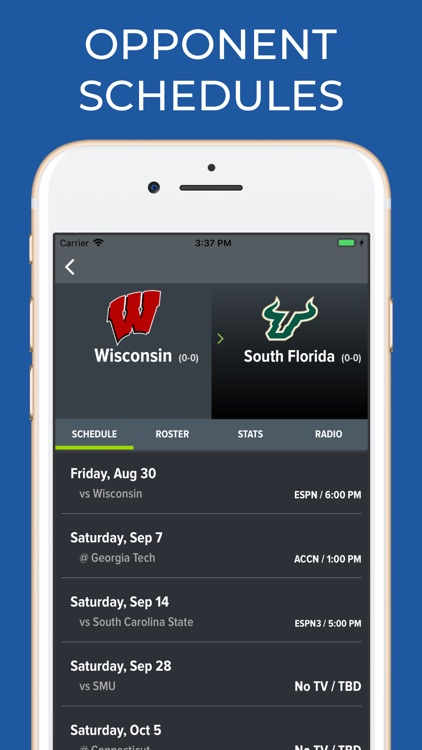 Wisconsin Football Schedules screenshot-5