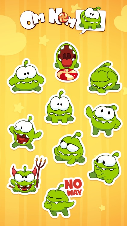 Om Nom Stickers screenshot-4