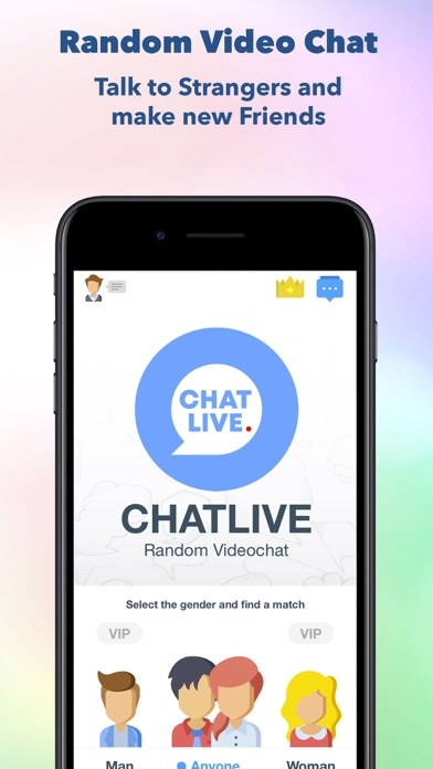 Screenshot for ChatLive, Random Video Chat in United States App Store