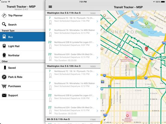 Transit Tracker - Minneapolis / Saint Paul (Metro Transit) screenshot
