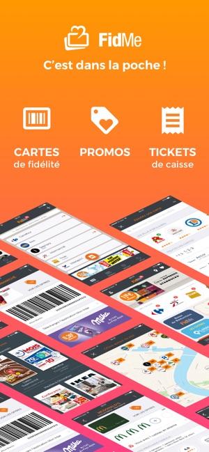 Carte Carrefour Ticket De Caisse.Fidme Cartes Fidelite Promos Dans L App Store