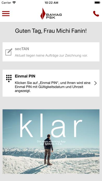 BAWAG P.S.K. Security App screenshot two