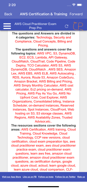 ‎AWS Cloud Practitioner PRO Screenshot