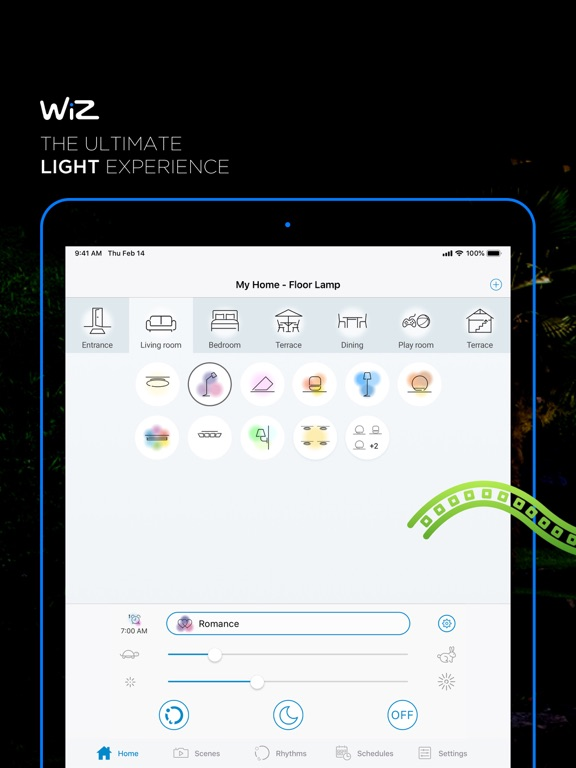 iPad Image of WiZ Connected