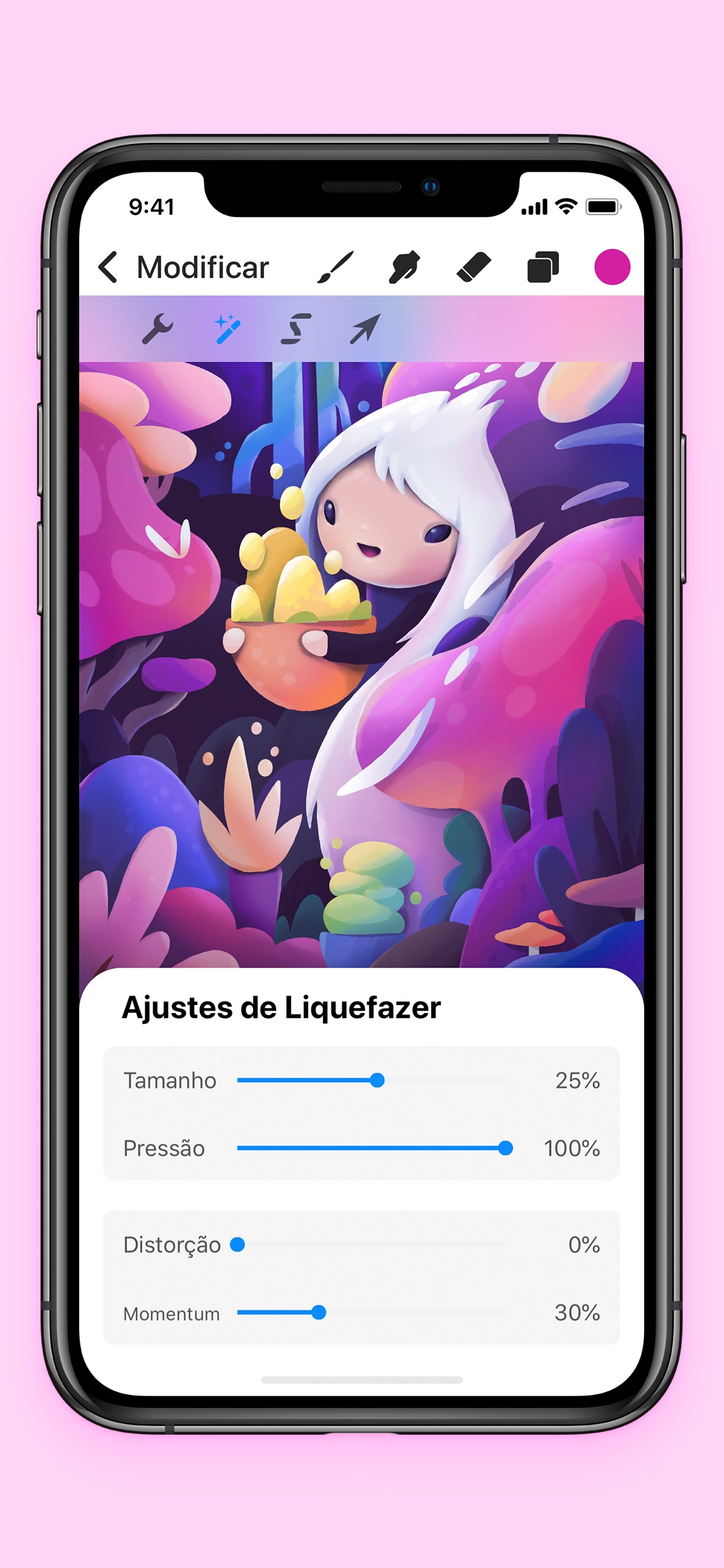 Screenshot do app Procreate Pocket