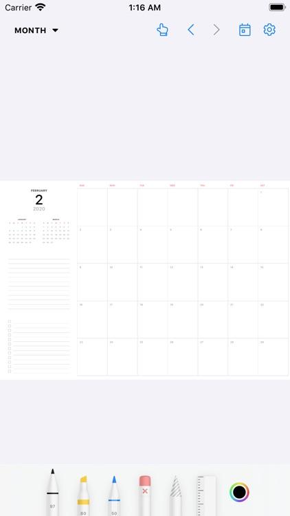 Pencil Planner & Draw Calendar screenshot-5