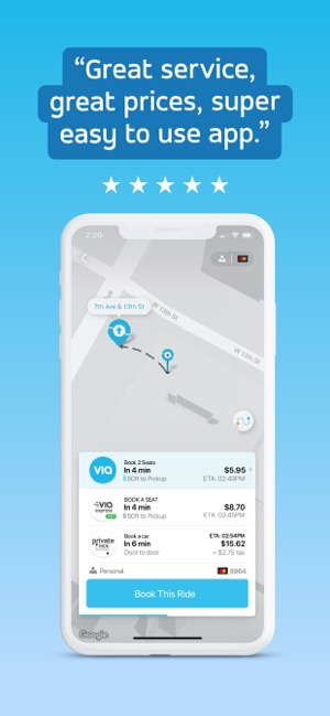 Via: Low-Cost Ride-Sharing on the App Store