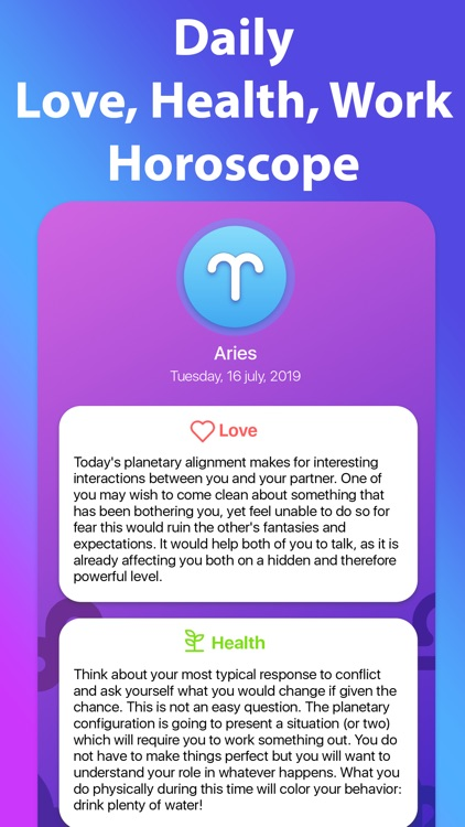 Daily Horoscope App - Future