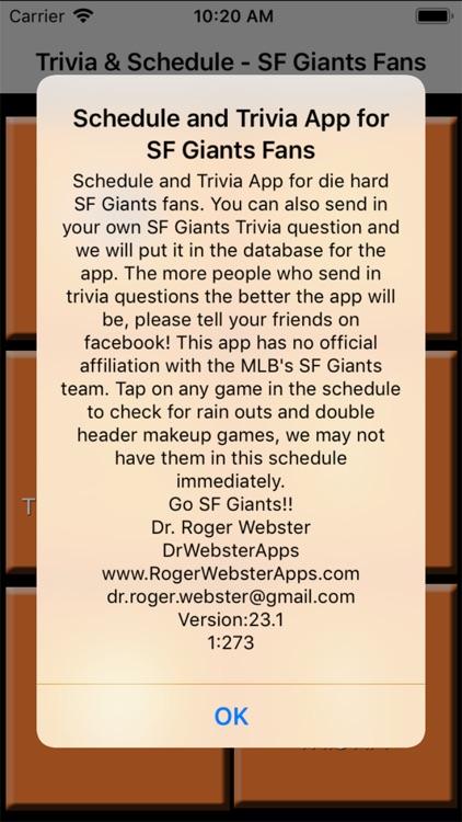 Trivia Game for SF Giants fans screenshot-9
