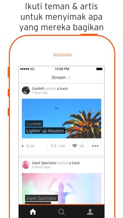 Screenshot for SoundCloud - Musik & Audio in Indonesia App Store