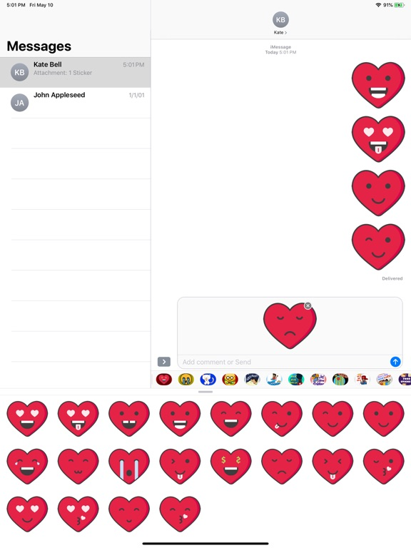 Love Heart Emoji Stickers screenshot 6