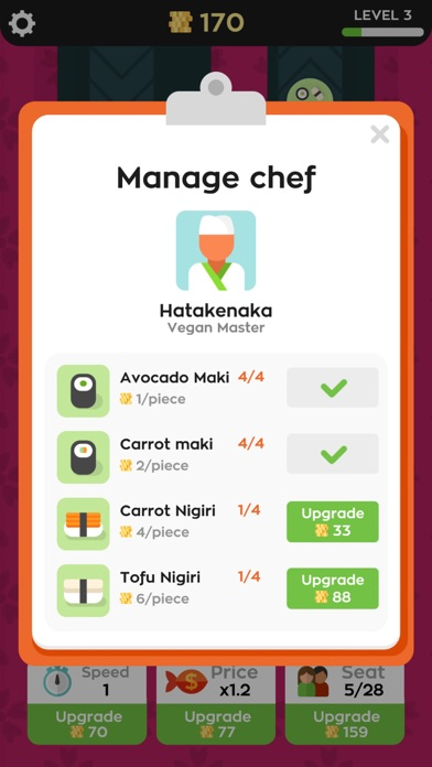 Screenshot for Sushi Bar Idle in United States App Store