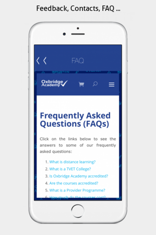 Oxbridge Academy Mobile App - náhled