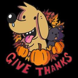 Thanksgiving Stickers Koda
