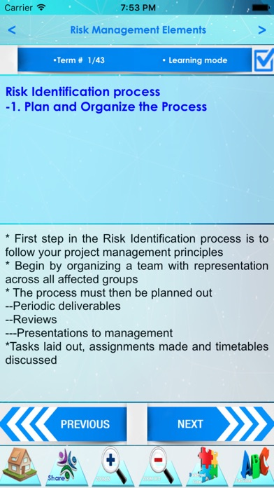 Risk Management Terminology screenshot three