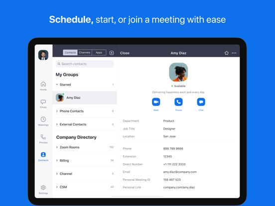 iPad Image of ZOOM Cloud Meetings