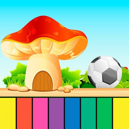 Детское пианино - виртуальное пианино для мальчиков и девочек, детское пиано для развития и образования детей