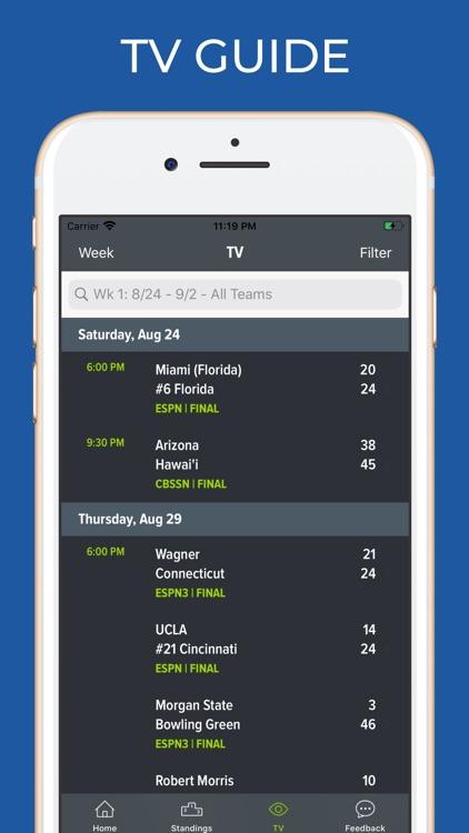 Kentucky Football Schedules screenshot-6