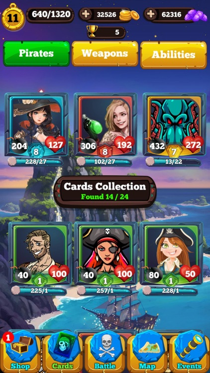 Pirate Cards - Treasure Battle