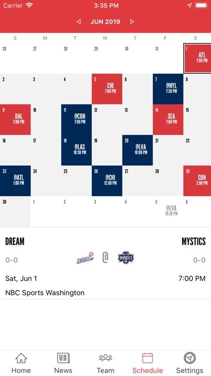 Washington Mystics Mobile screenshot-4