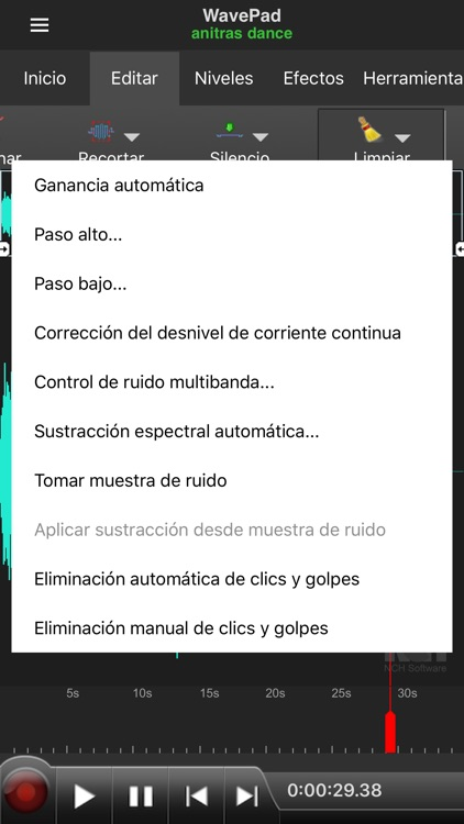 WavePad, editor de audio screenshot-3