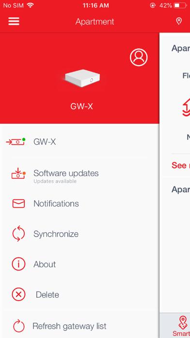 Screenshot of m:tel Smart Home App
