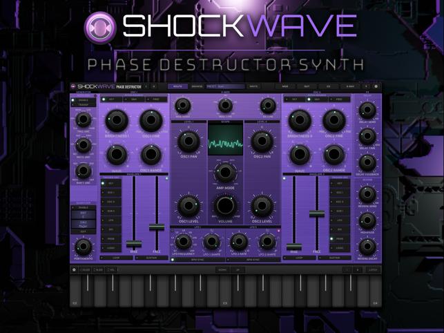 shockwave synth module dans l app store. Black Bedroom Furniture Sets. Home Design Ideas