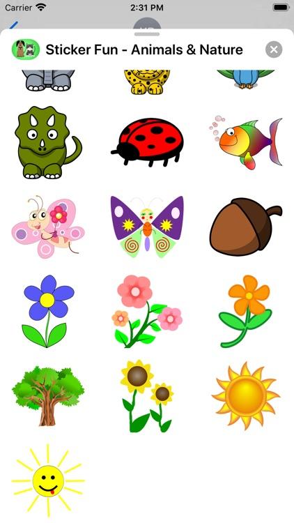 Sticker Fun - Animals & Nature screenshot-3