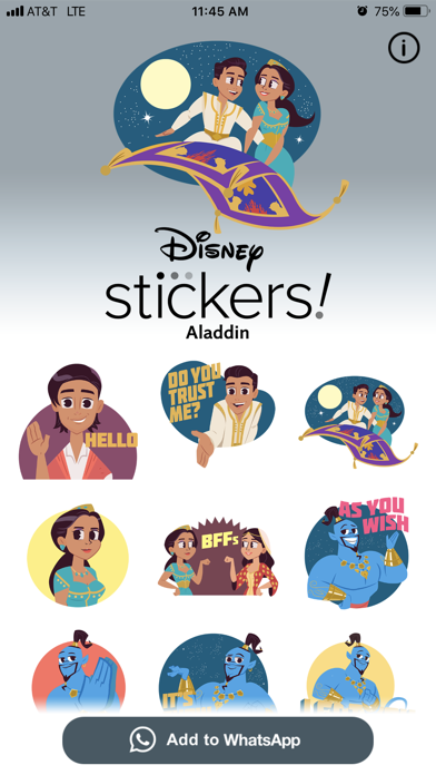 Disney Stickers: Aladdin screenshot 4