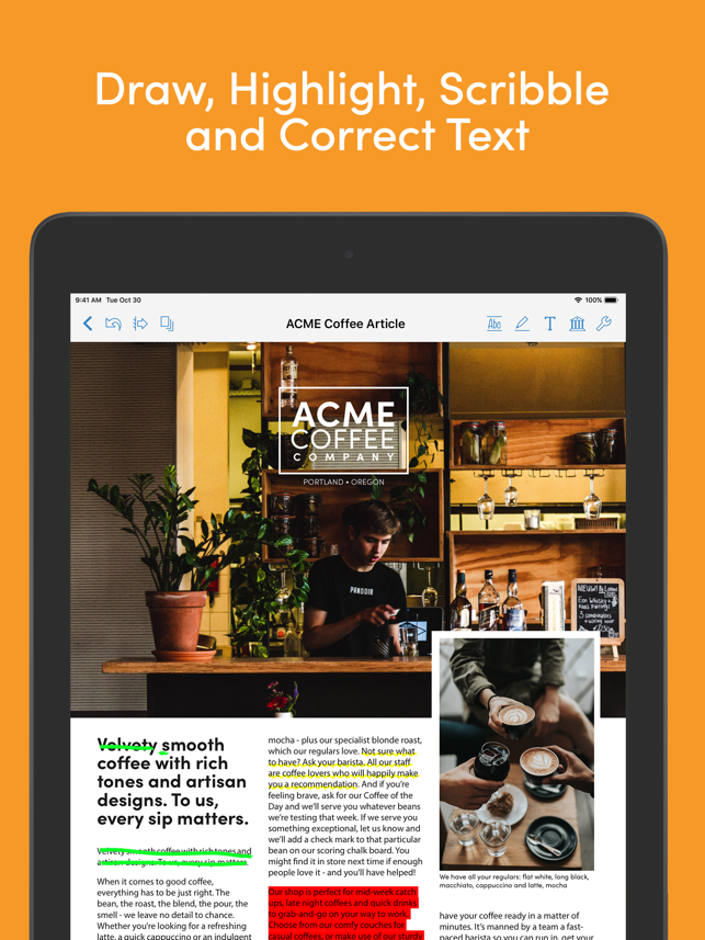 PDFpen for iPad & iPhone v5.2 Features Creating and Editing Hyperlinks Image