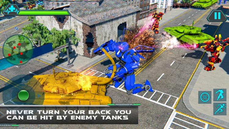 Helicopter Transform Tank War screenshot-3