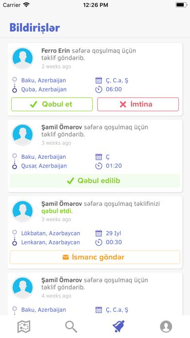Screenshot for YolGet in Azerbaijan App Store