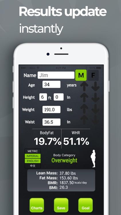Bodyfat Calculator 4 screenshot-5