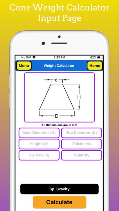 Fabrication Weight Calculator screenshot 2