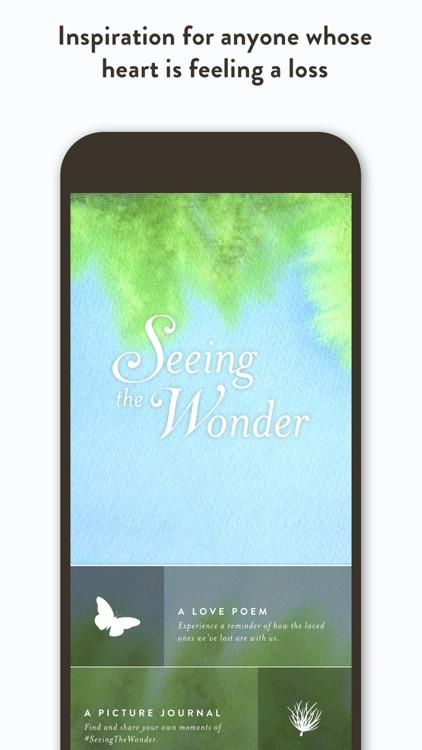 Seeing the Wonder