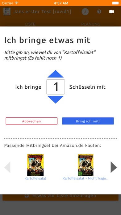Screenshot for Bringlist in Germany App Store