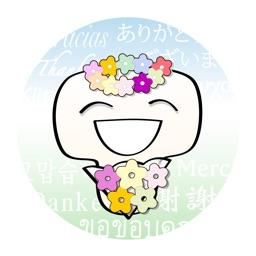 50-Language Thank You Stickers