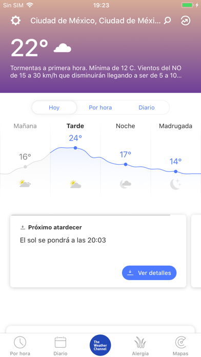 Screenshot for El Tiempo: The Weather Channel in Chile App Store