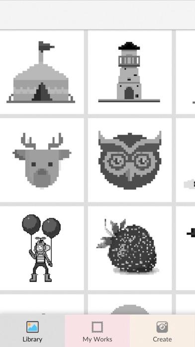 最新スマホゲームのイラストピクセルアート: 塗り絵お絵かきゲームが配信開始!