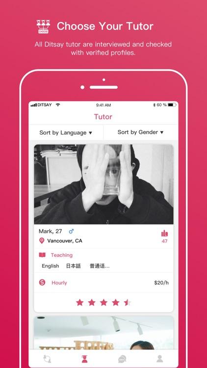 Ditsay - Language Exchange screenshot-4