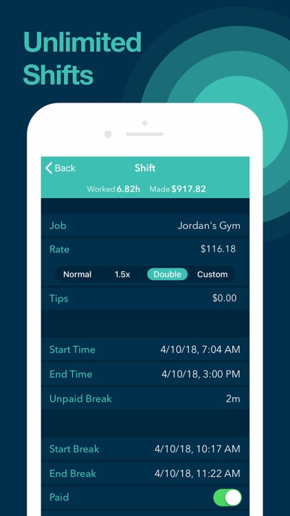 Clock In for Work Hour Tracker screenshot-3