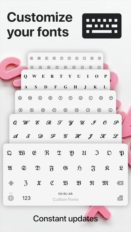 Fonts + Keyboard fonts & Emoji