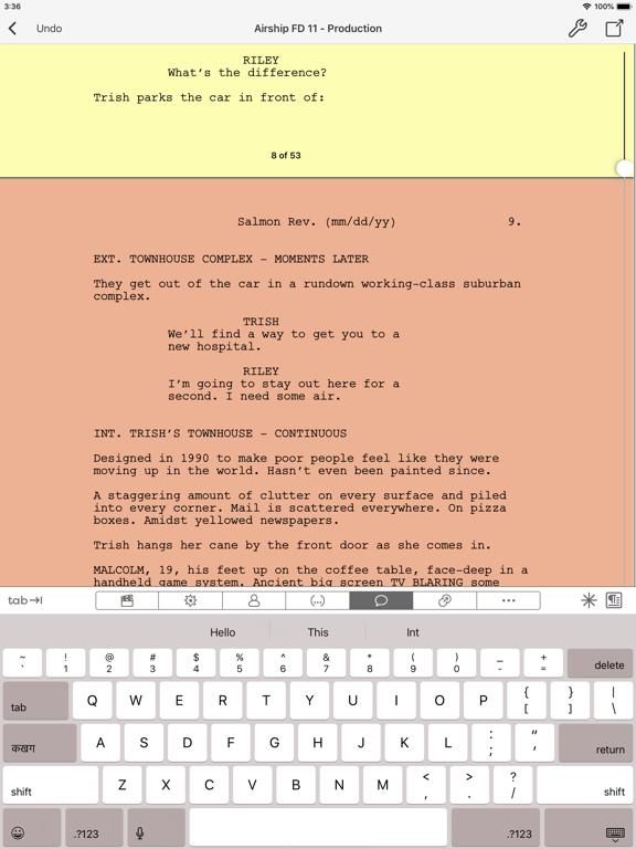 Final Draft Mobile Screenshot 5