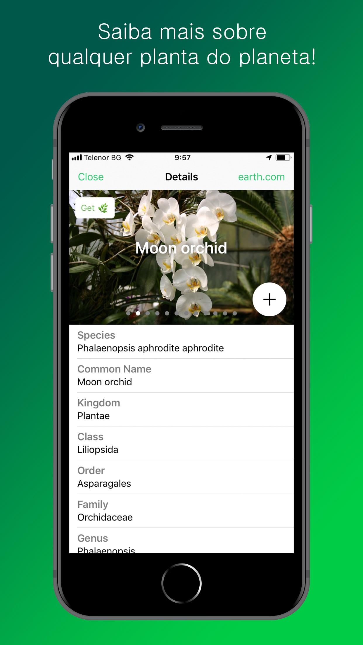 Screenshot do app PlantSnap Pro: Identify Plants