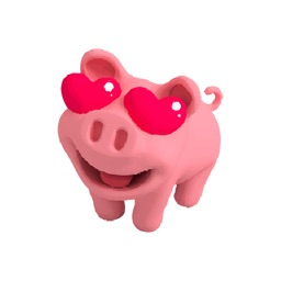 Rosa Pig is in Love Stickers