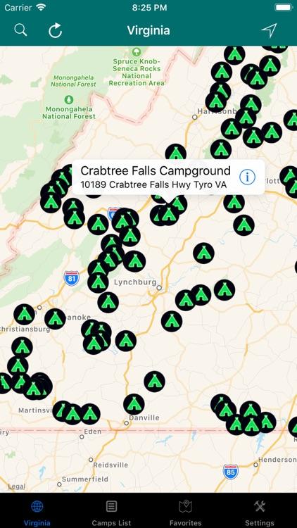 Virginia – Camps & RV Parks
