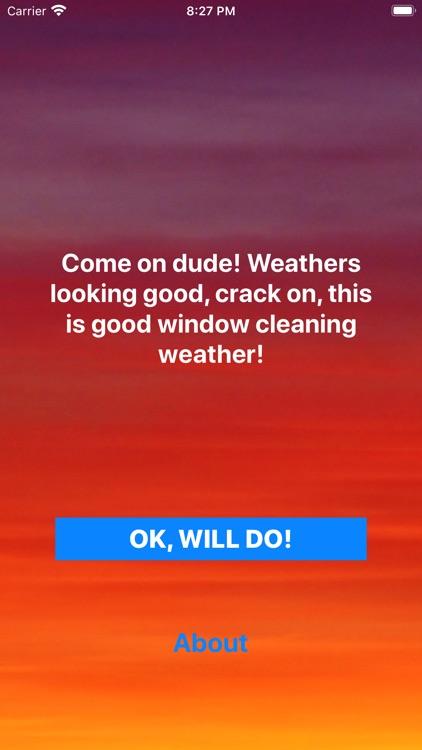 Window Cleaner Weather App screenshot-3