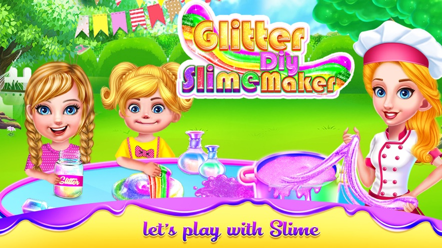 Glitter DIY Slime Maker Games App 截图
